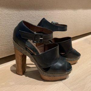 Marni women's heeled peep toe with platform